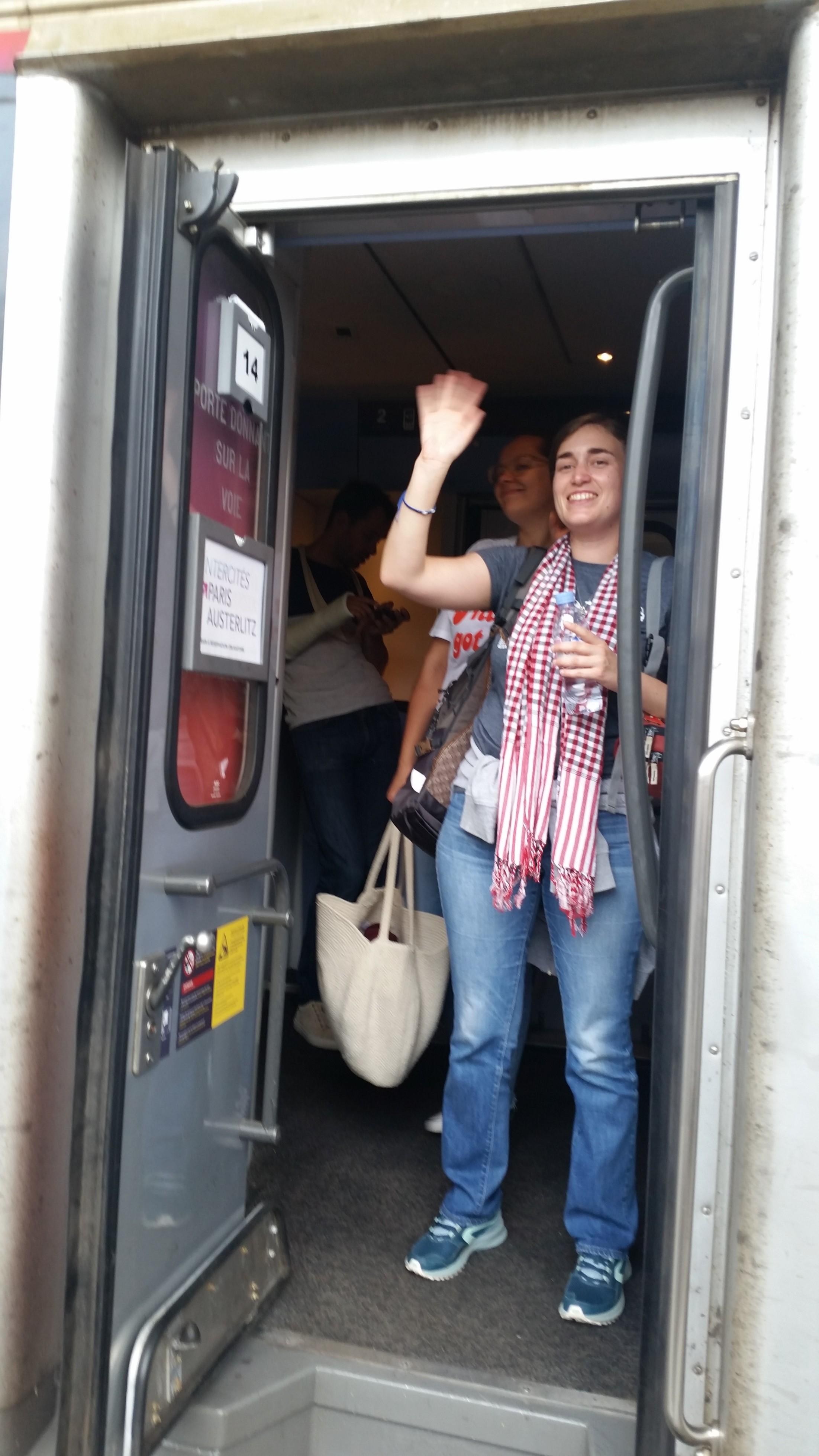 Dans le train pour Paris, derniers moments avant le départ