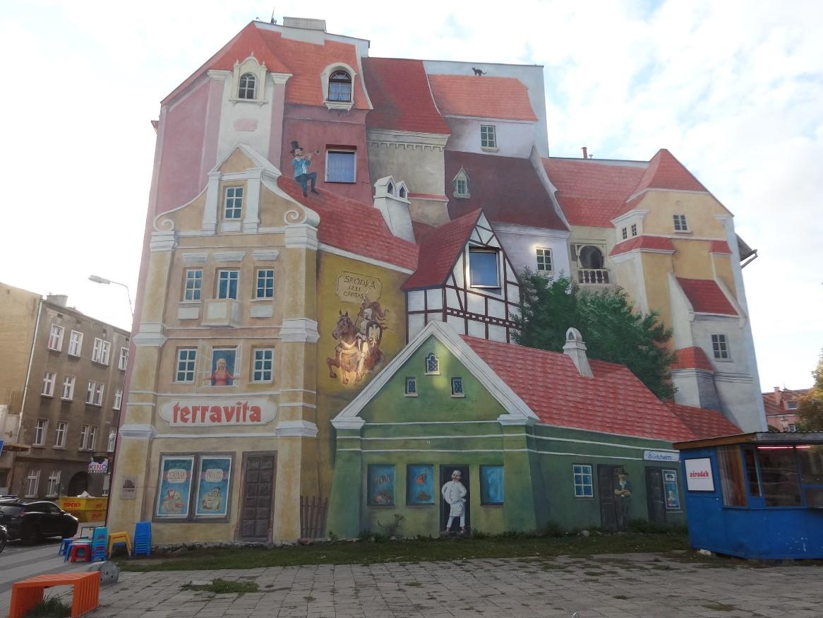 Balade dans Poznan, art de rue en 3D