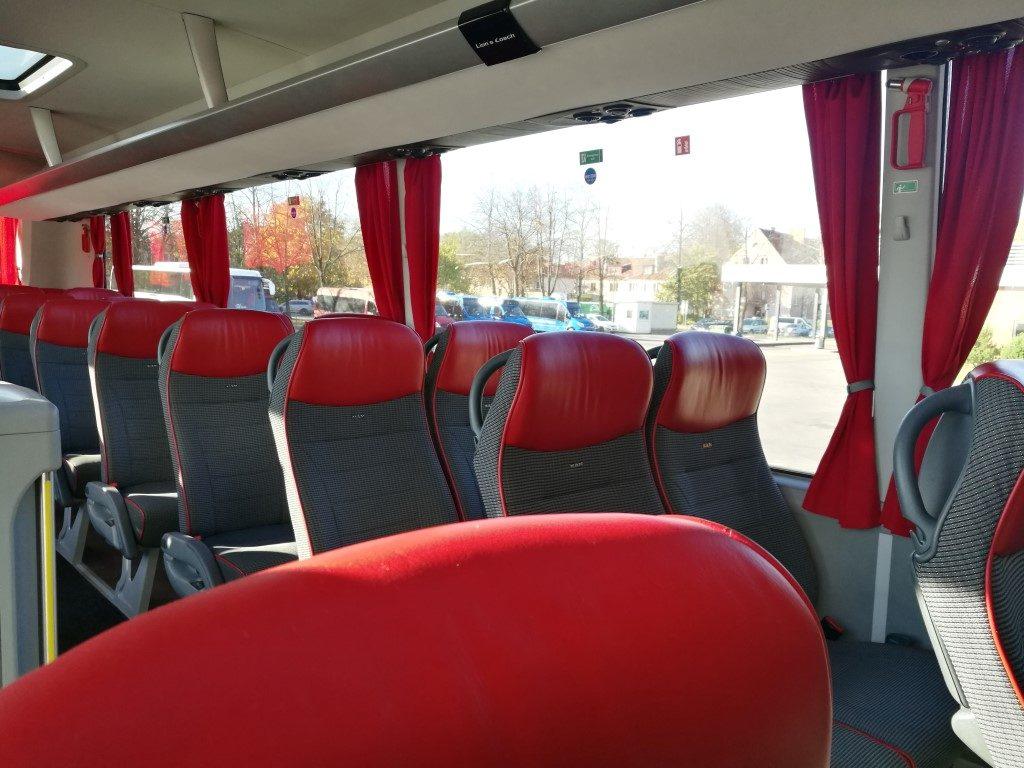 Le bus entre Klaipeda (Lituanie) et Riga (Lettonie)