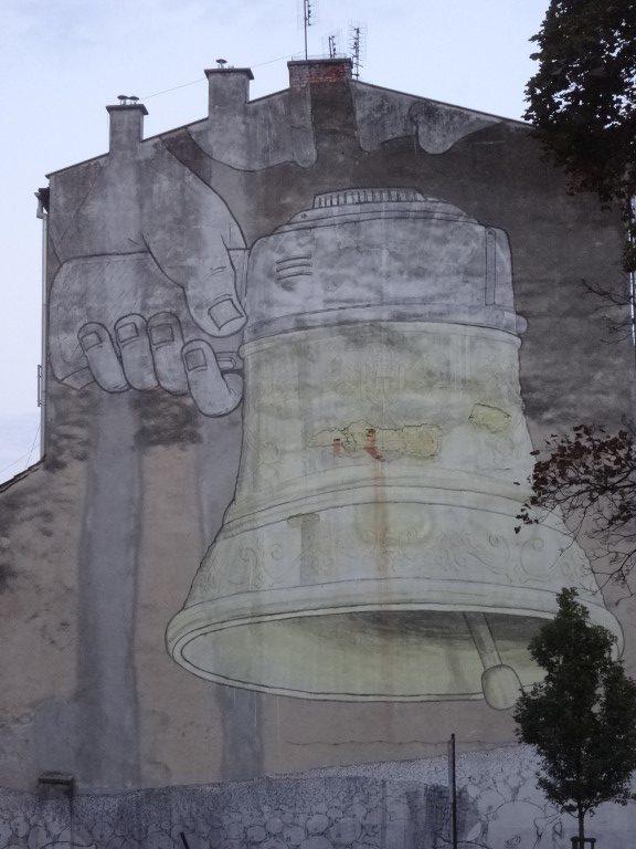 Le mur à l'entrée du Ghetto de Cracovie