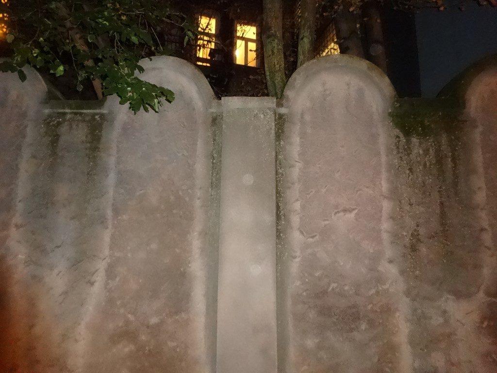 Un des restes des murs autour du Ghetto de Cracovie.