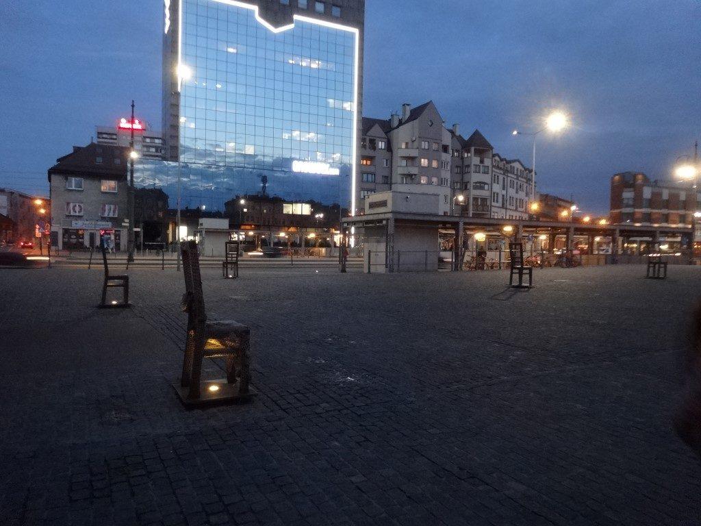 La place principale du ghetto de Cracovie