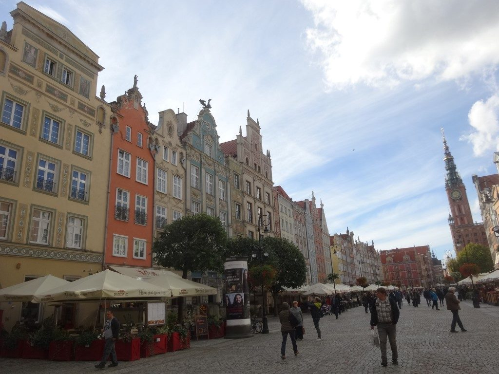 Une rue de Gdansk, dans la vieille ville