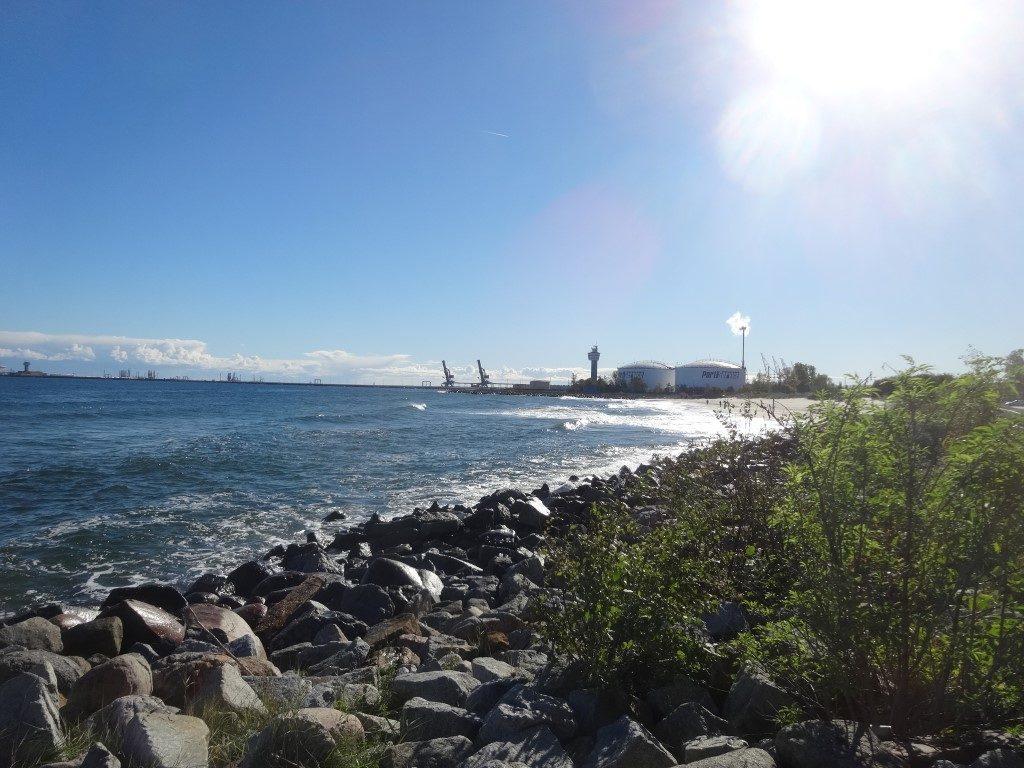 La mer Baltique depuis Westerplatte à Gdansk