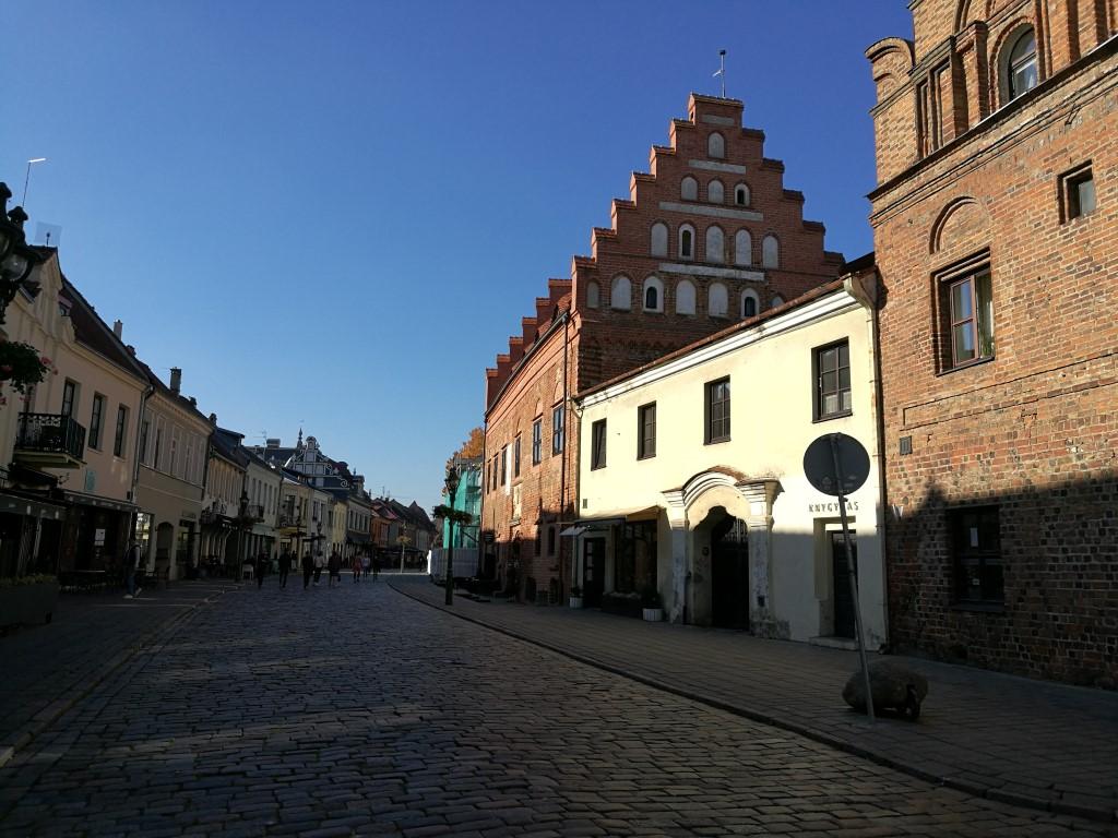 Une rue du centre ville de Kaunas