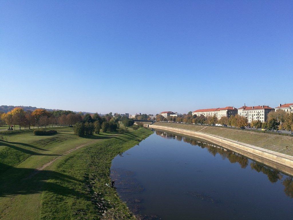 La rivière qui entoure Kaunas