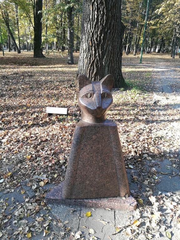 Une statue dans le parc des statues de Klaipeda