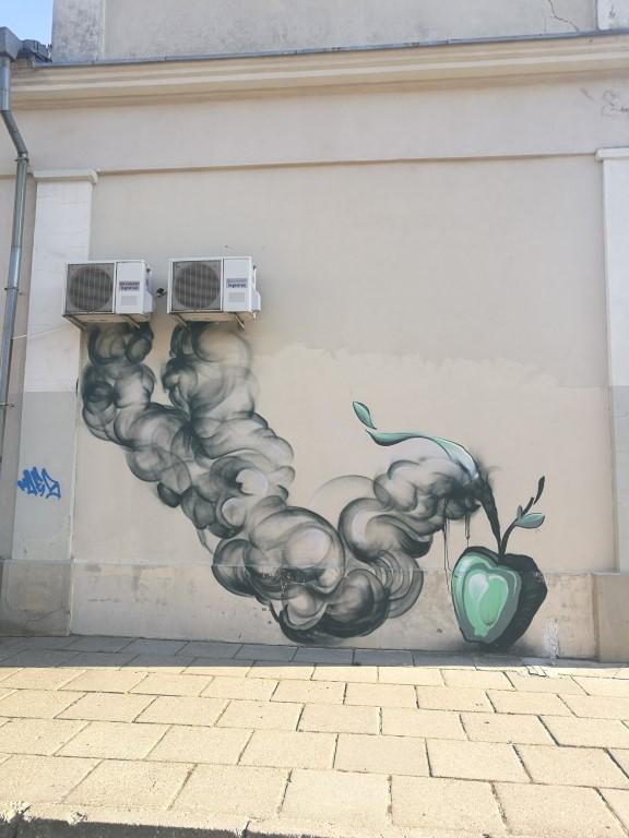 Un tag sur un des murs de Klaipeda