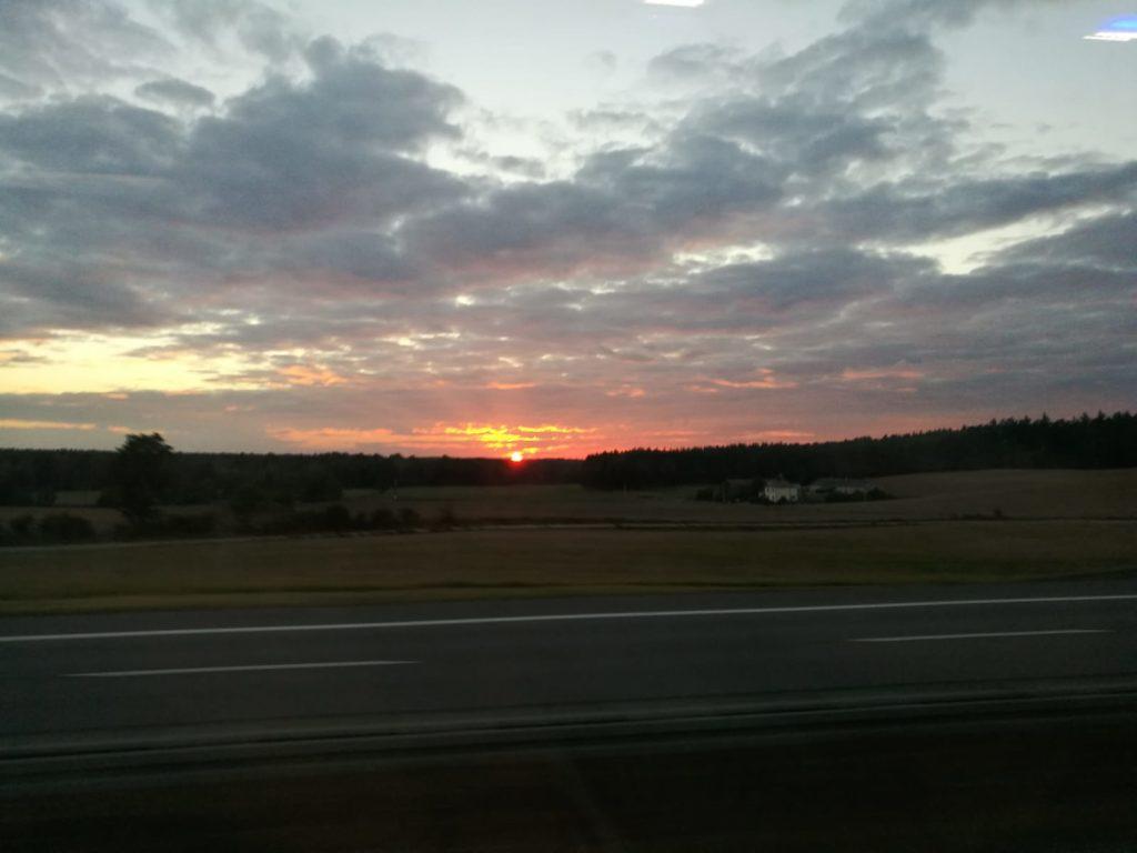 La campagne Polonaise au coucher du soleil