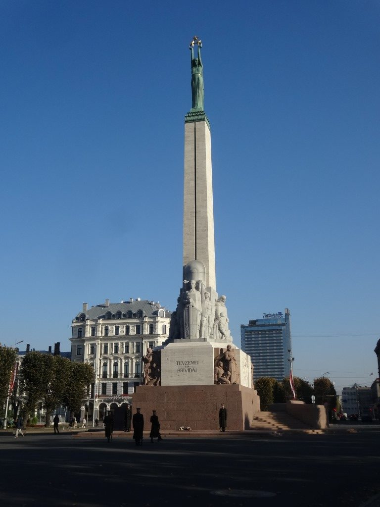 La colonne de la liberté de Riga