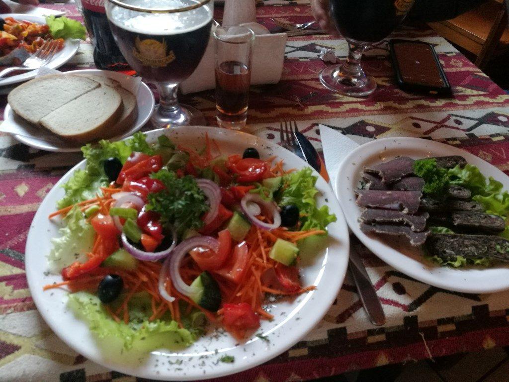 Repas typique à Trakai