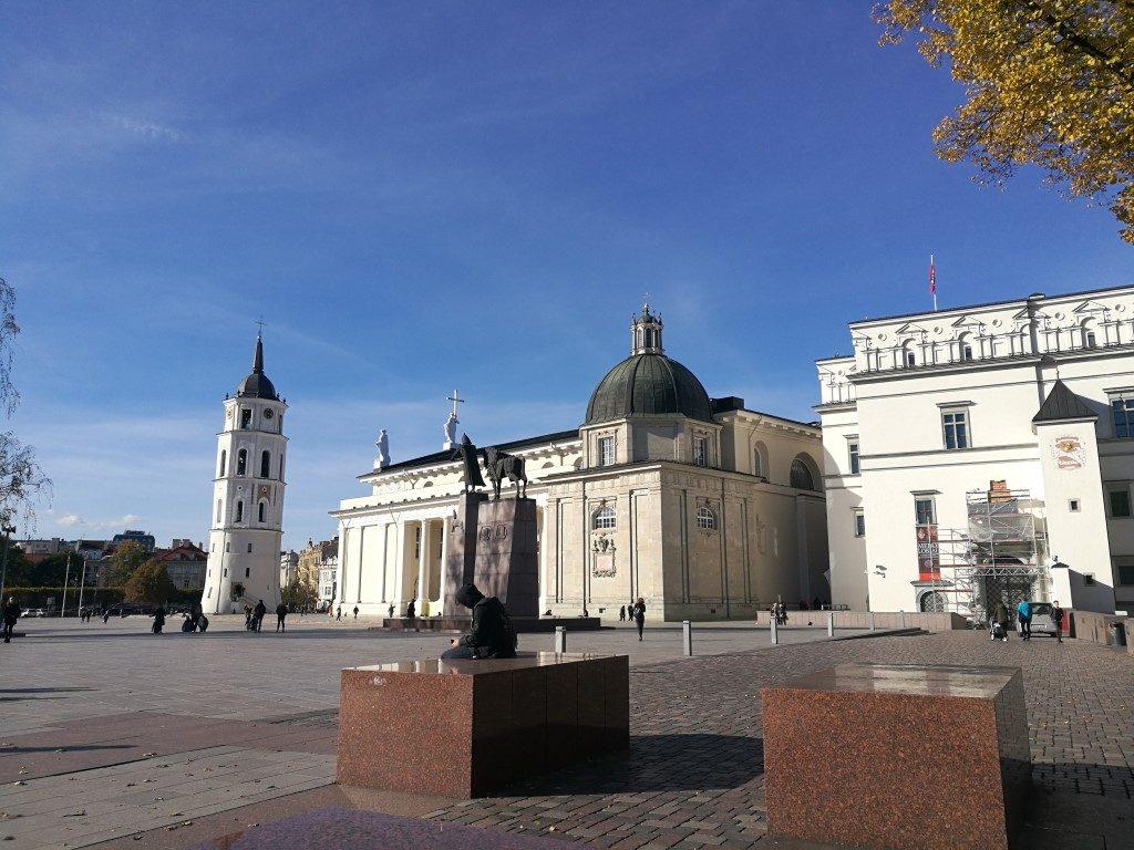 La Cathédrale de Vilnius au centre de la vieille ville