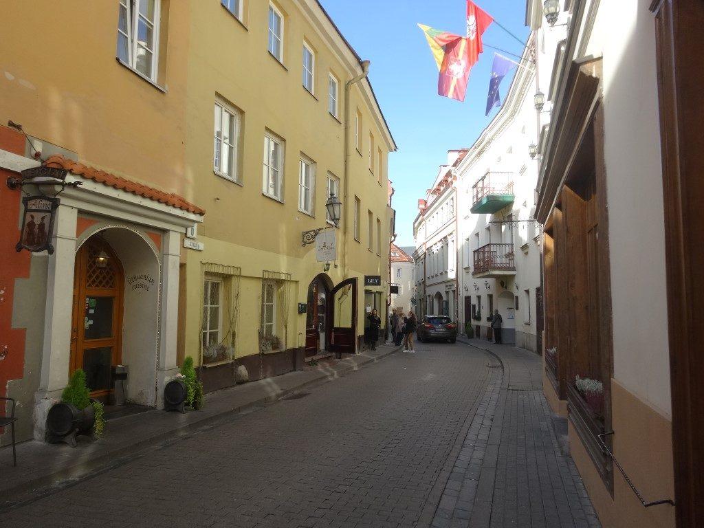 Une rue de la vieille ville de Vilnius