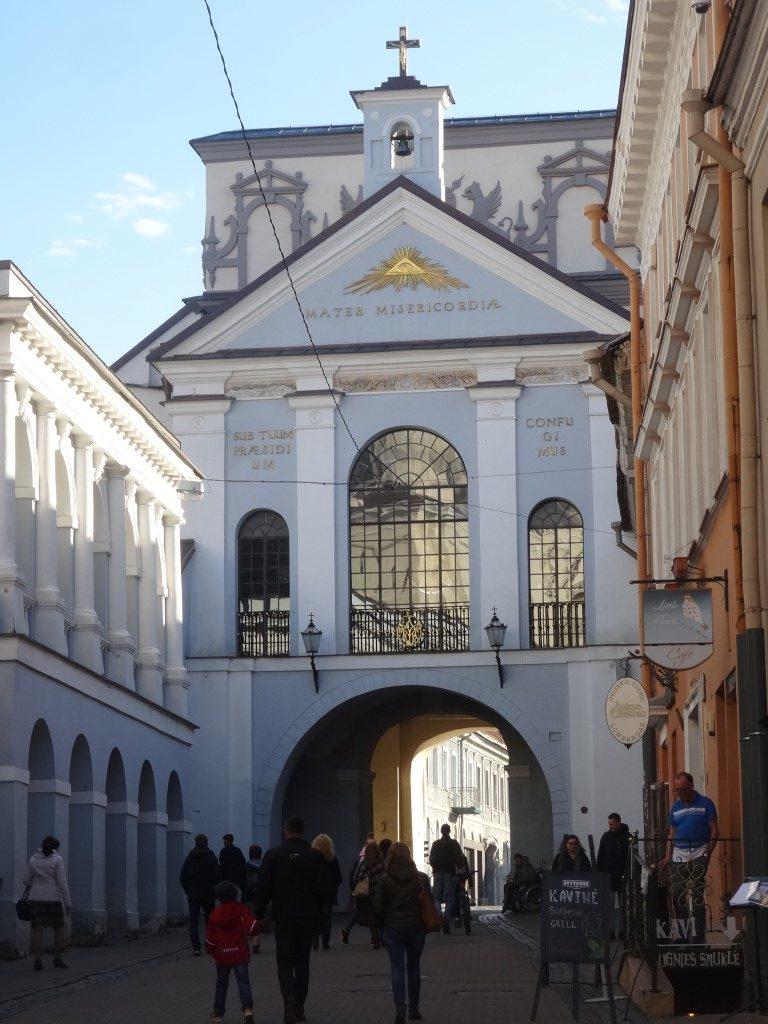 L'ancienne porte de la ville de Vilnius