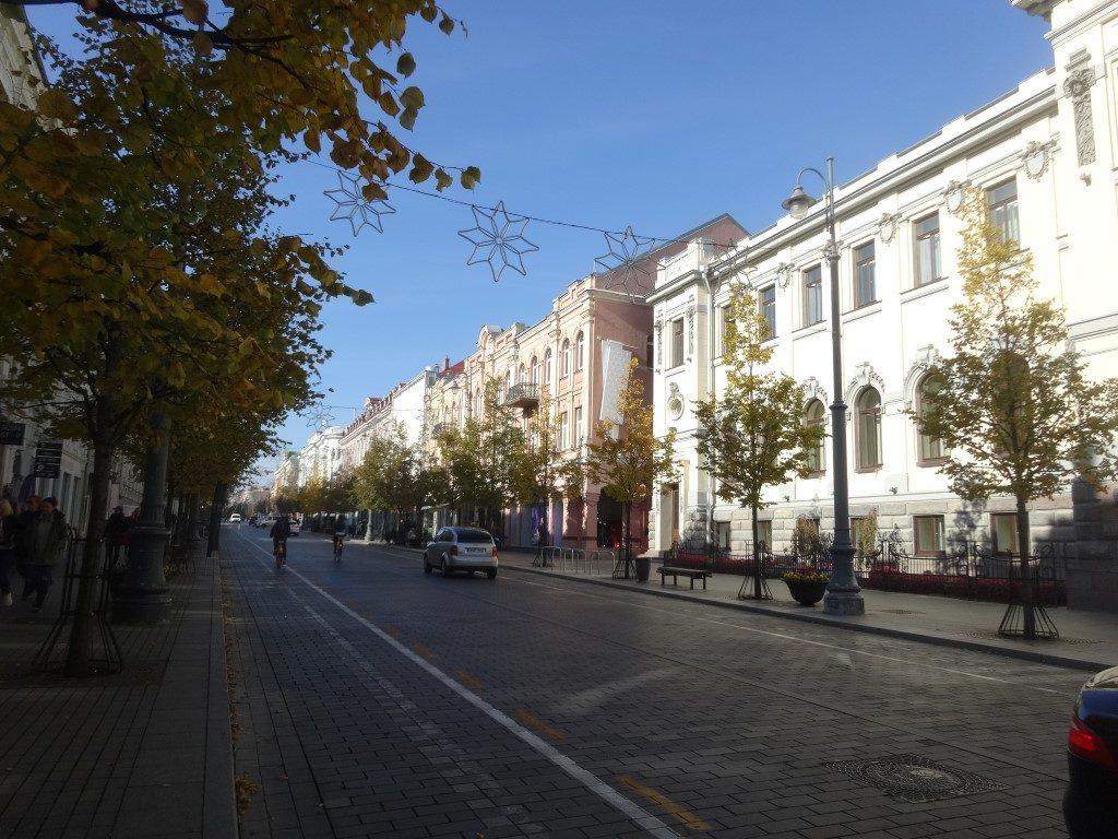 Une rue du quartier huppé de Vilnius