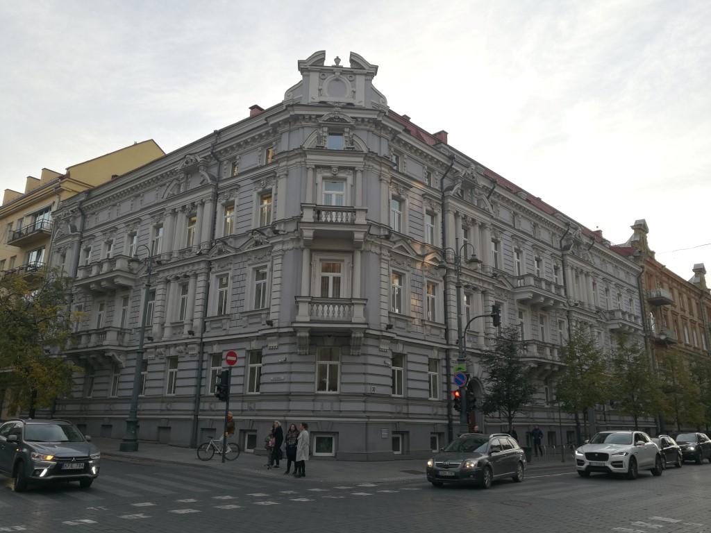 Un des bâtiments du quartier huppé de Vilnius