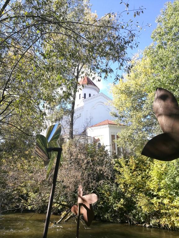 Les moulins à la frontière du quartier autonome d'Uzupis