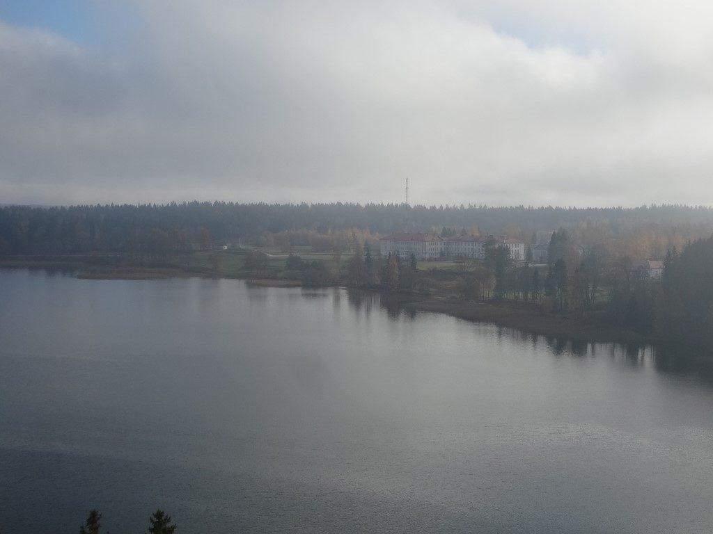 La vue depuis le haut de la tour d'observation