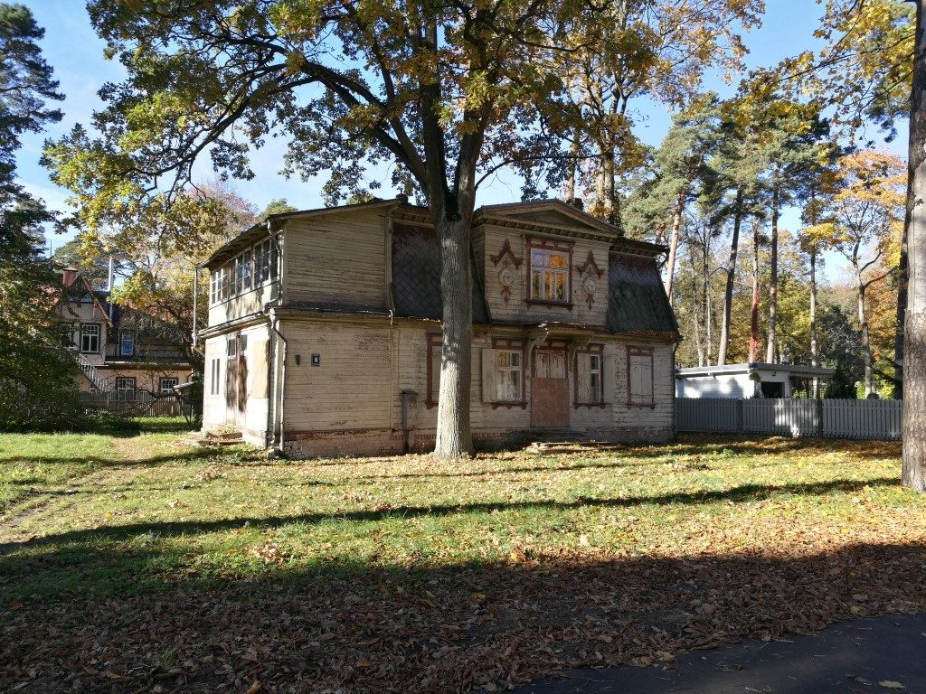 Une des maisons de Jurmala à rénover