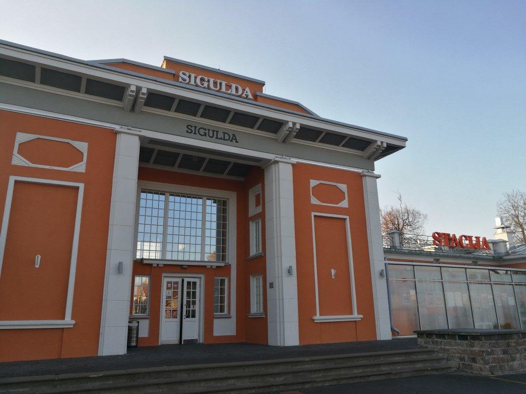 La gare de Sigulda au petit matin