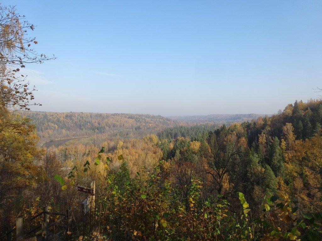 Point de vu sur le Parc National de la Gauja