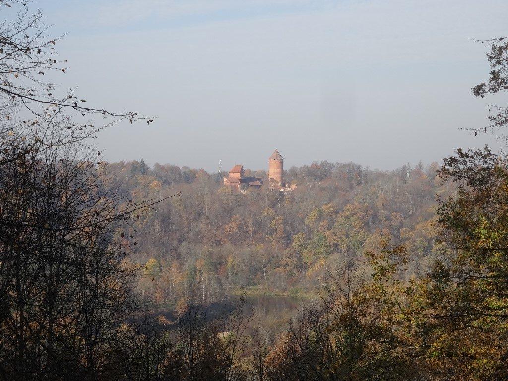Le Chateau qui surplombe le parc national Gauja
