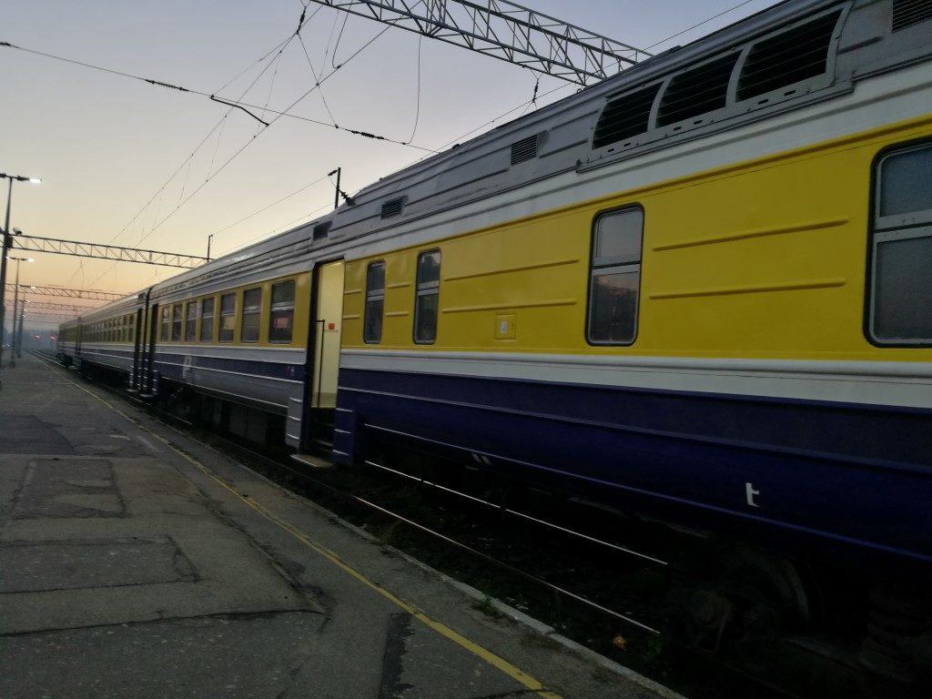 Le train au départ de Riga vers Sigulda au petit matin