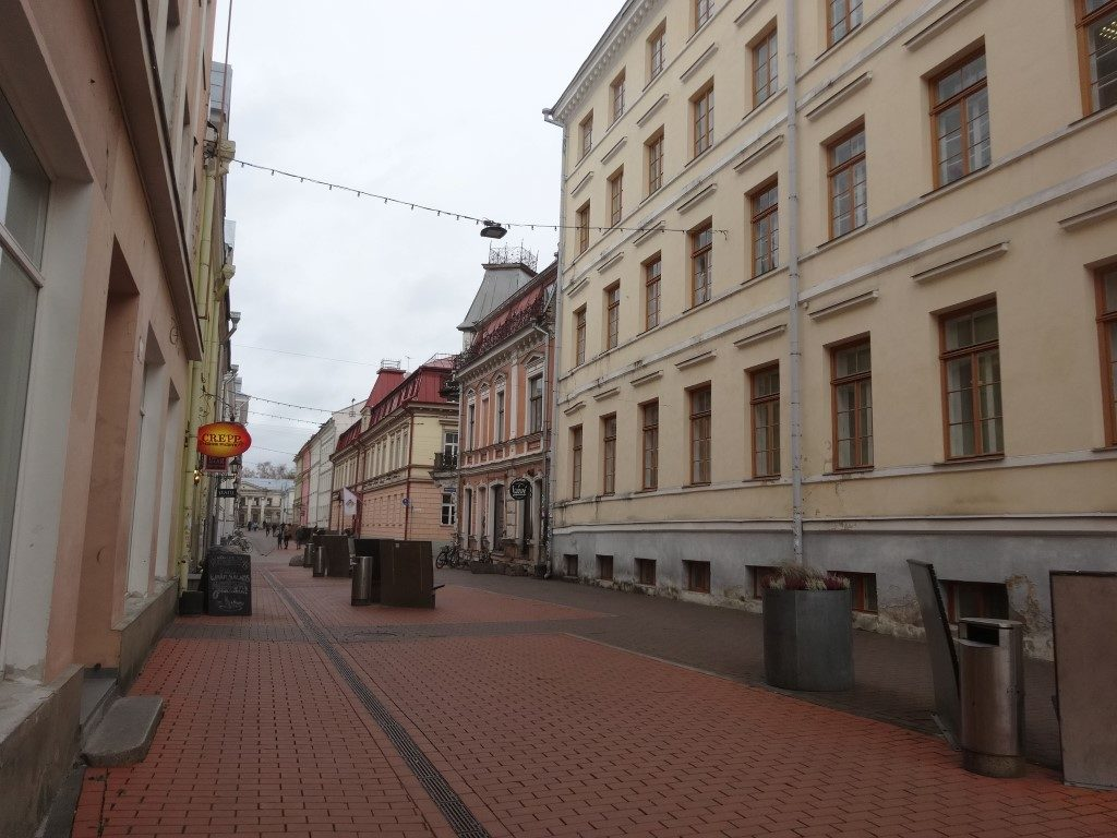 Une rue dans Tartu