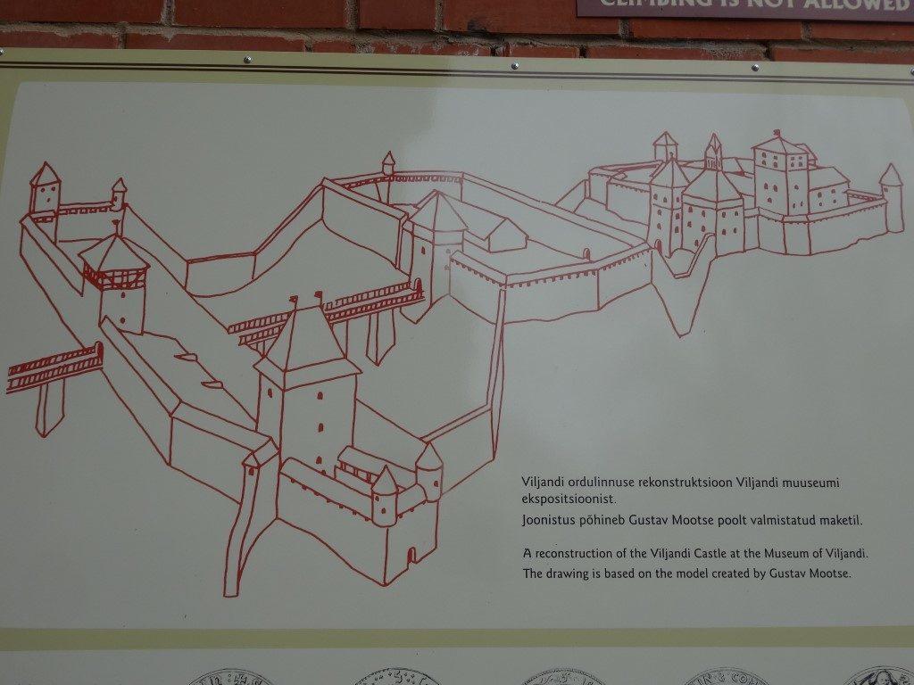 Le plan théorique du chateau dont la construction a débuté en 1224
