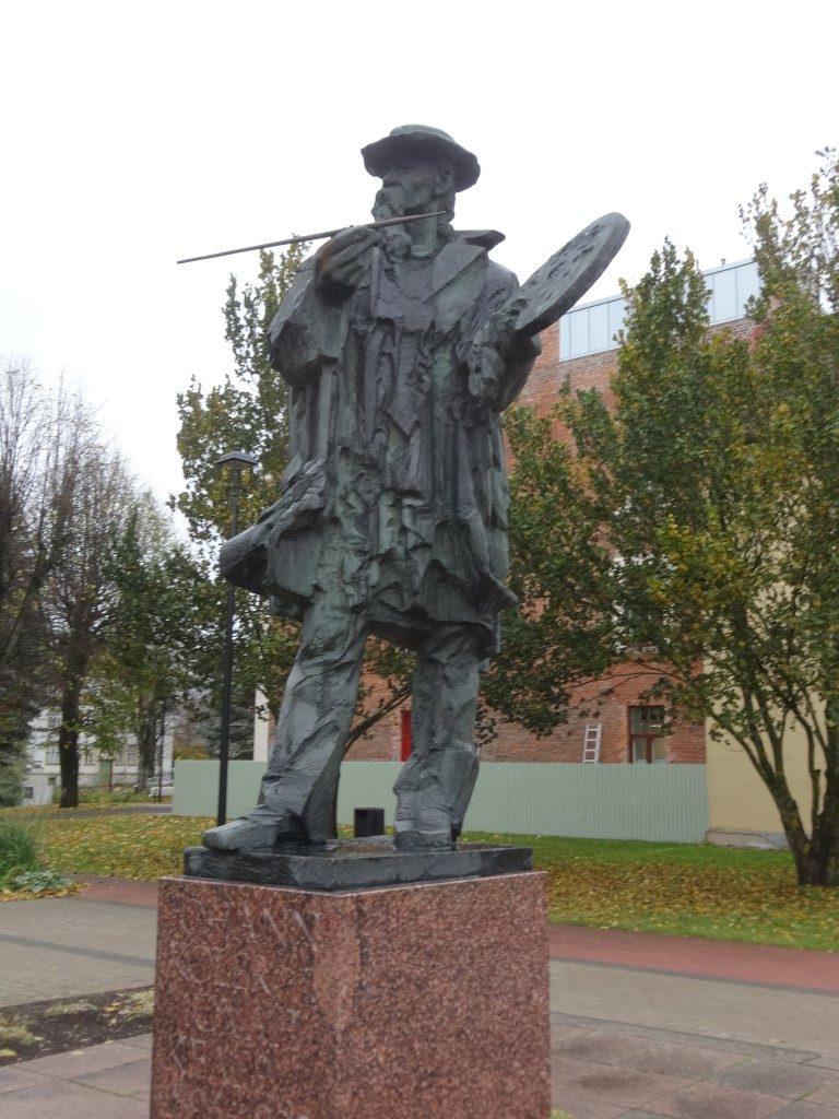 Statue du peintre Johann Köler, originaire de la région
