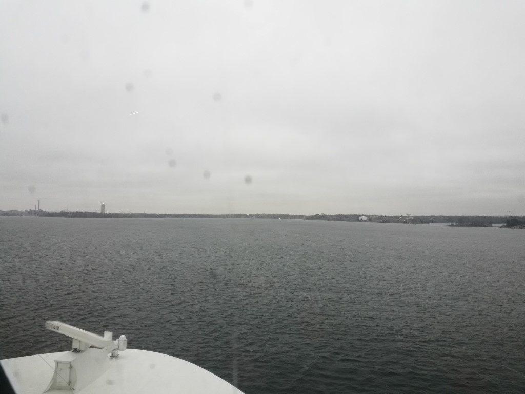La vue en arrivant à Helsinki