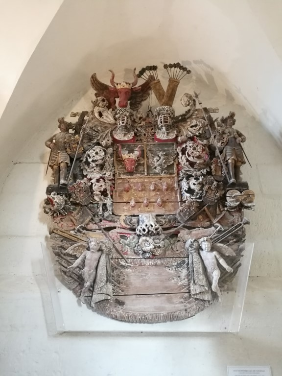 Les armoiries d'une des familles nobles de la région