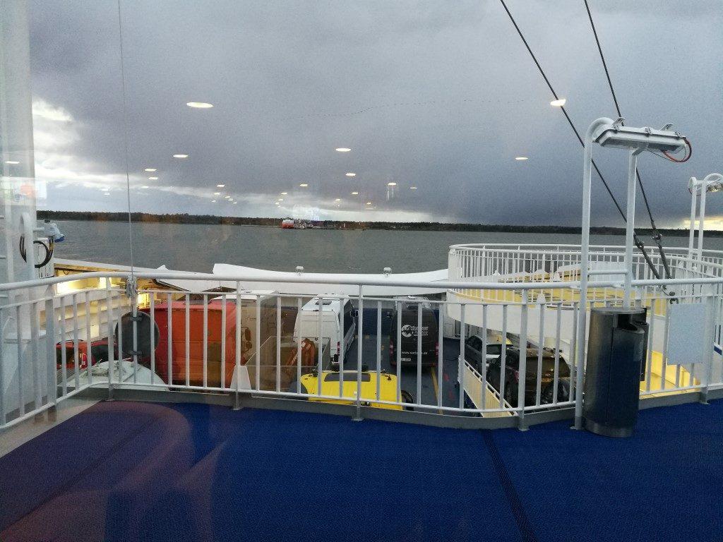 Sur le Ferry en direction de Kuressaare