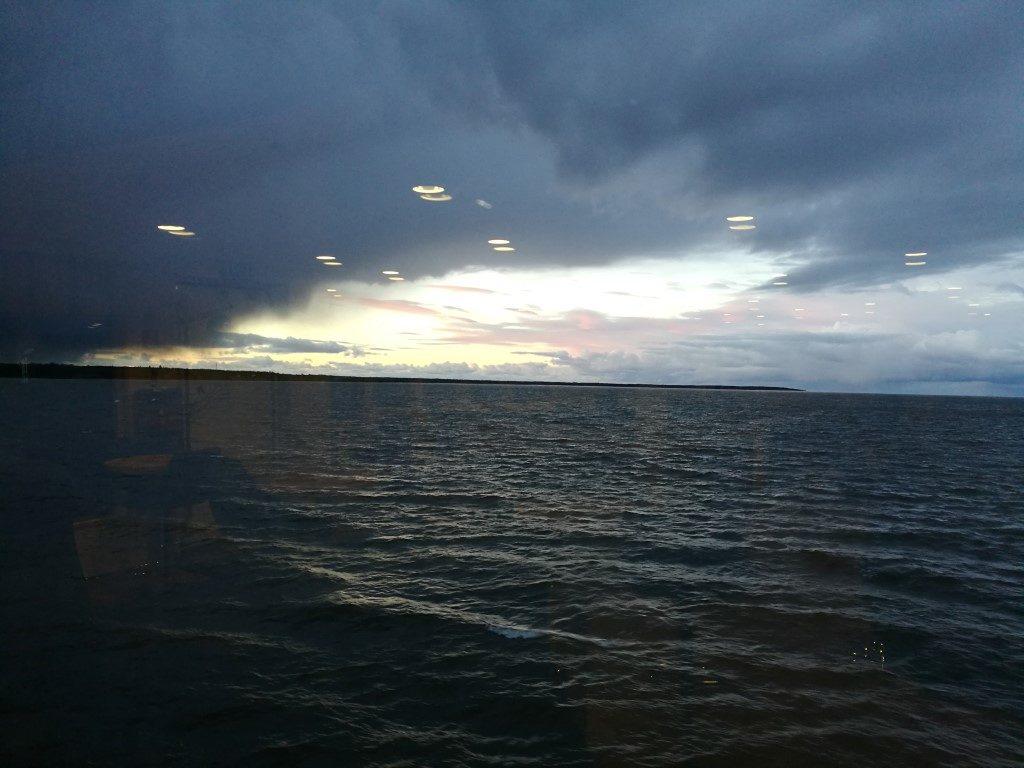 La vue sur la mer depuis le Ferry