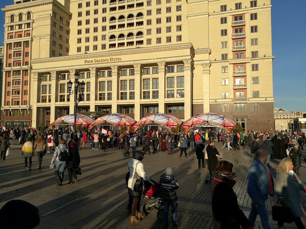 Moscou sous le soleil pour la fête de l'Union Nationale