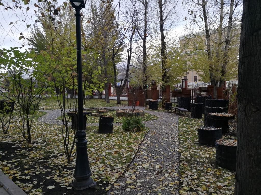 Le jardin de l'Hermitage à Moscou