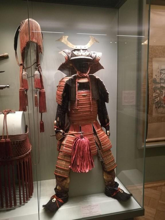 Une armure de Samouraï au musée de l'Hermitage à Saint-Petersbourg