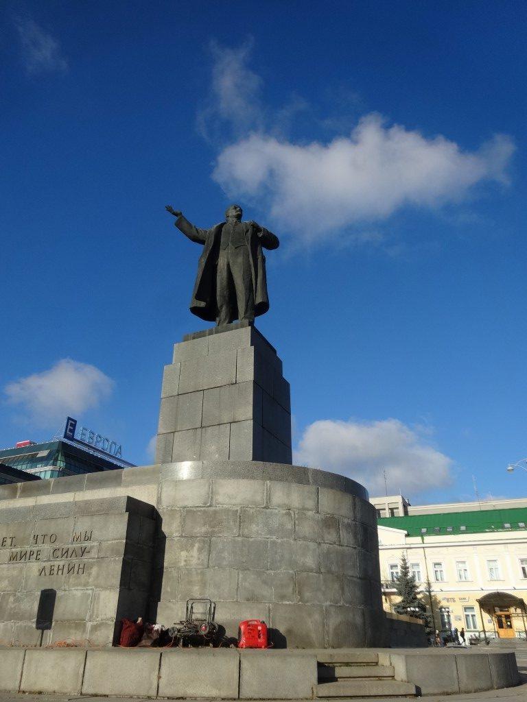 La statue de Lénine à Ekaterinburg