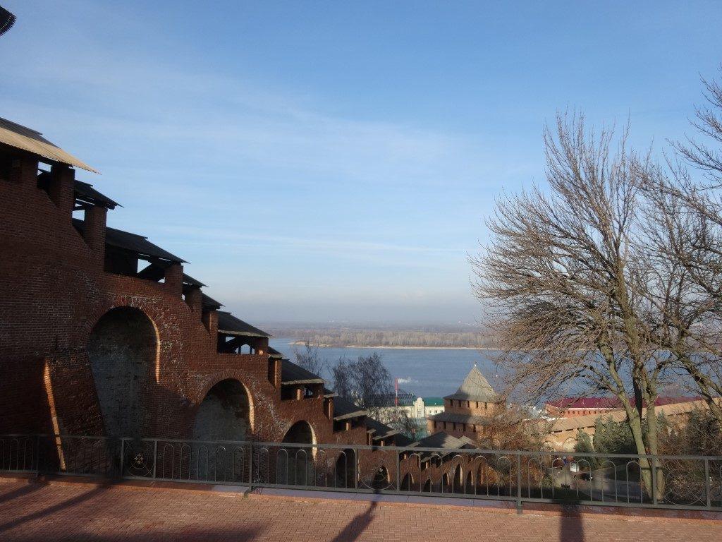 La plage le long de la rivière Moskava vue depuis le Kremlin