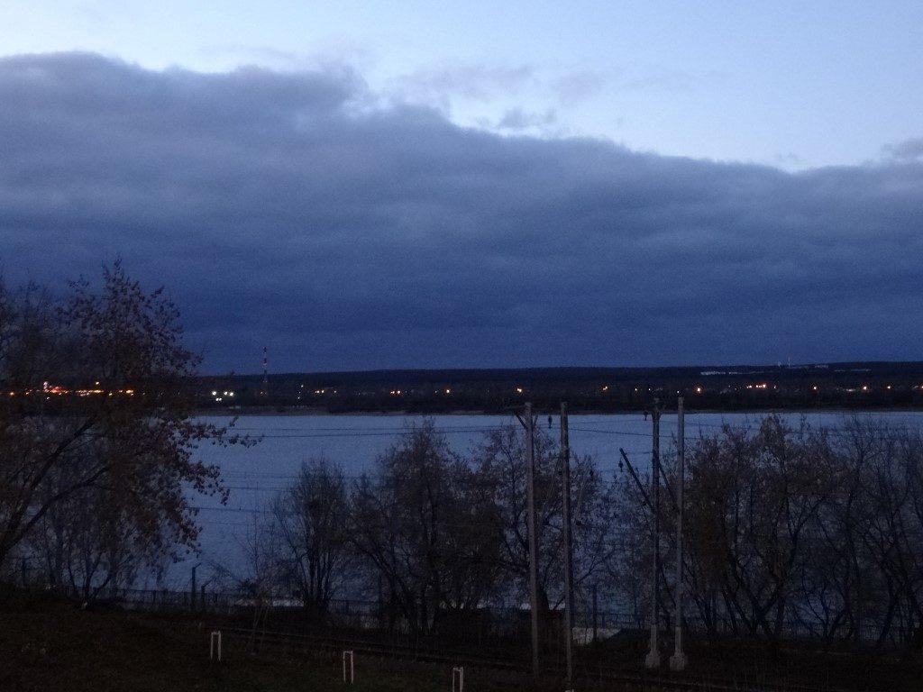 Les berges de la rivière à Perm