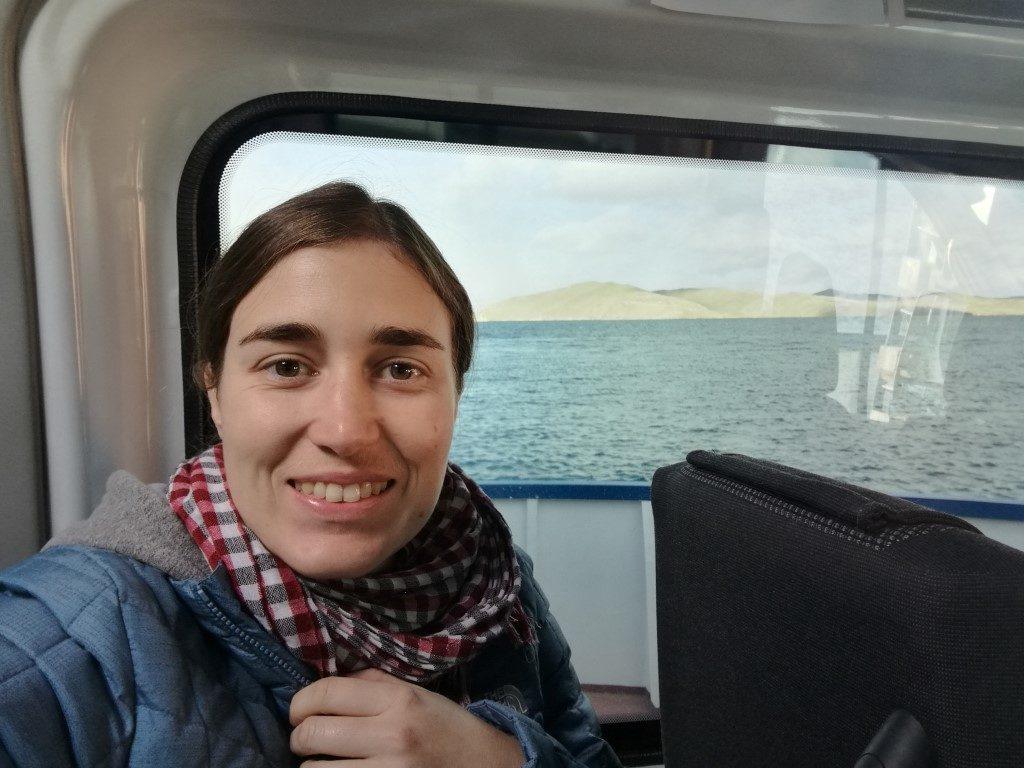 Sur le ferry en route pour l'île d'Olkhon