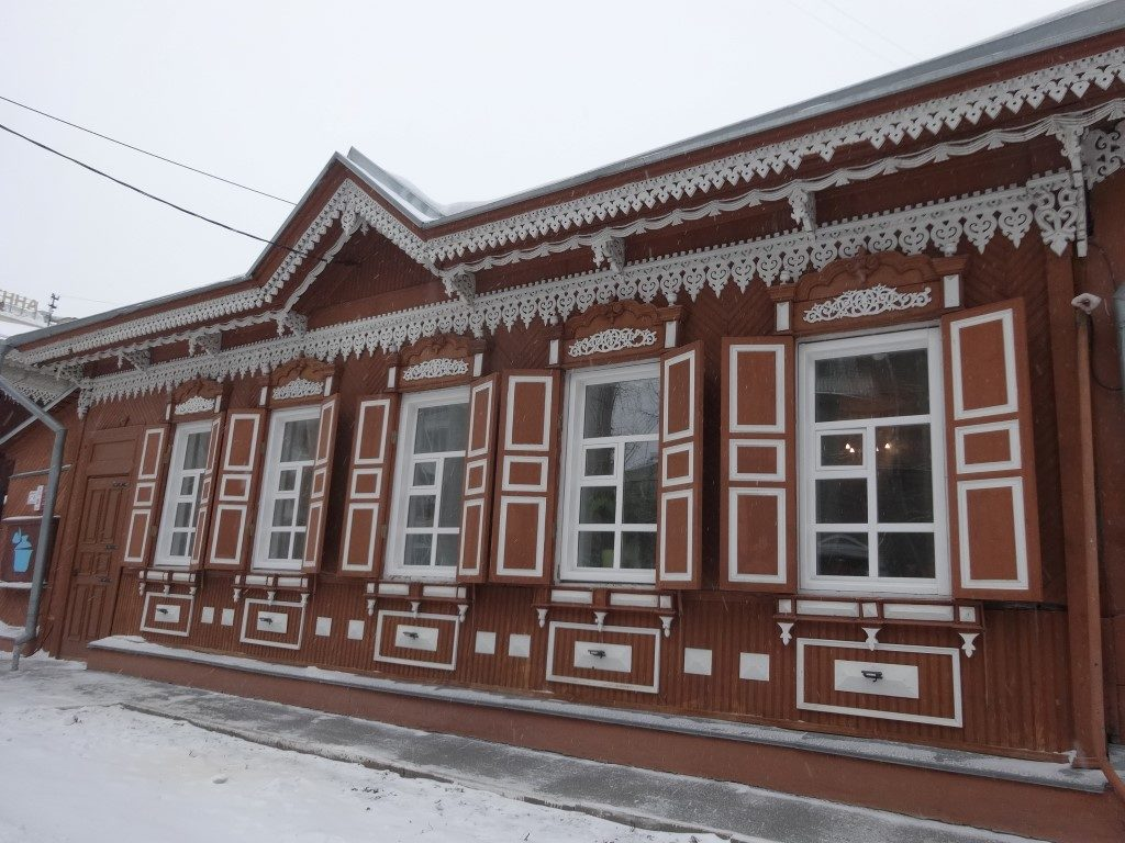 Les maisons de bois traditionnelle de Sibérie, encore visibles à Novosibirsk