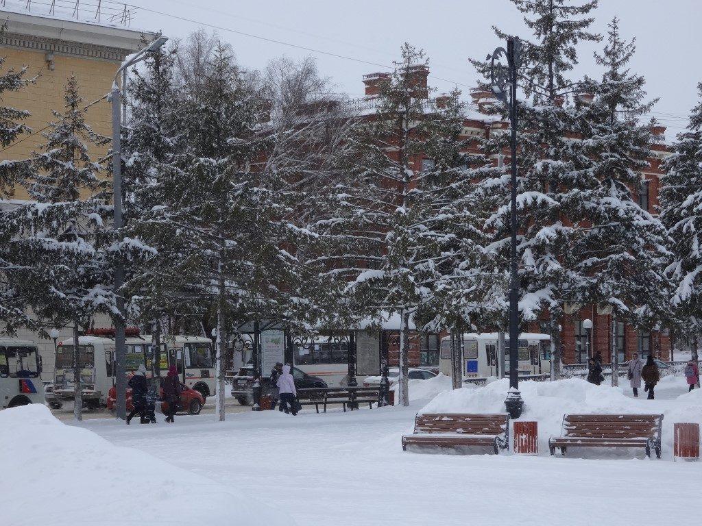 Les embouteillages de mini bus à Tomsk