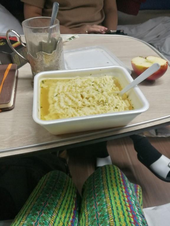 Les repas dans le transsibérien