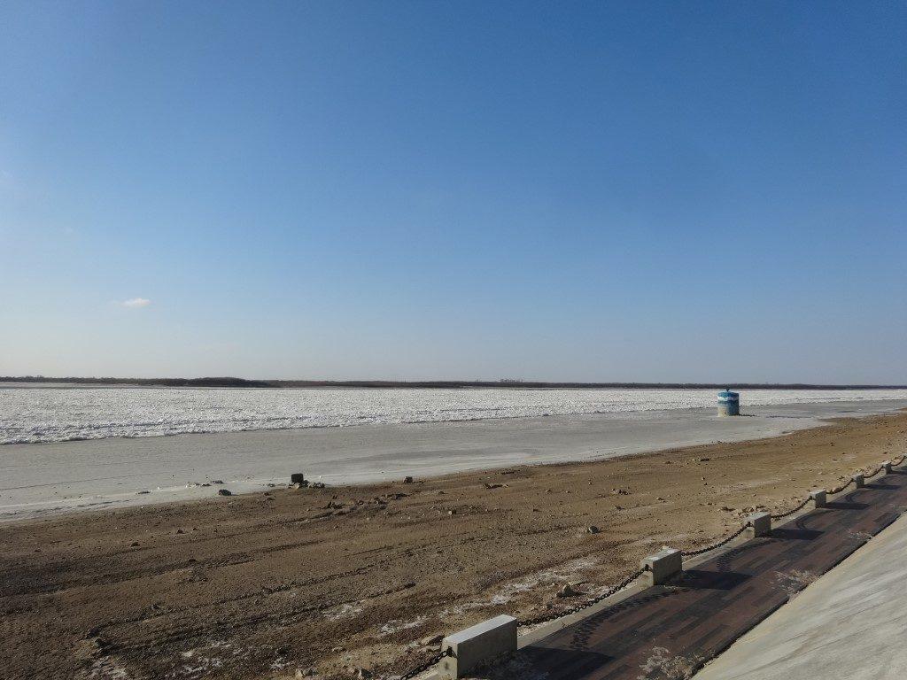 Les berges aménagées du fleuve Amour à Khabarovsk