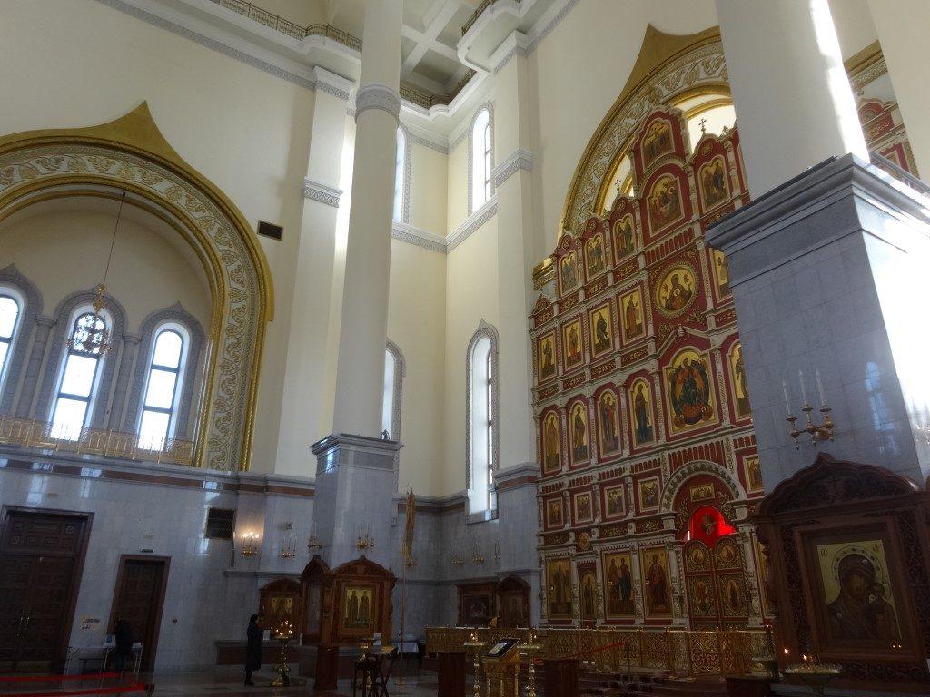L'intérieur d'une des nombreuses églises orthodoxe de Khabarovsk