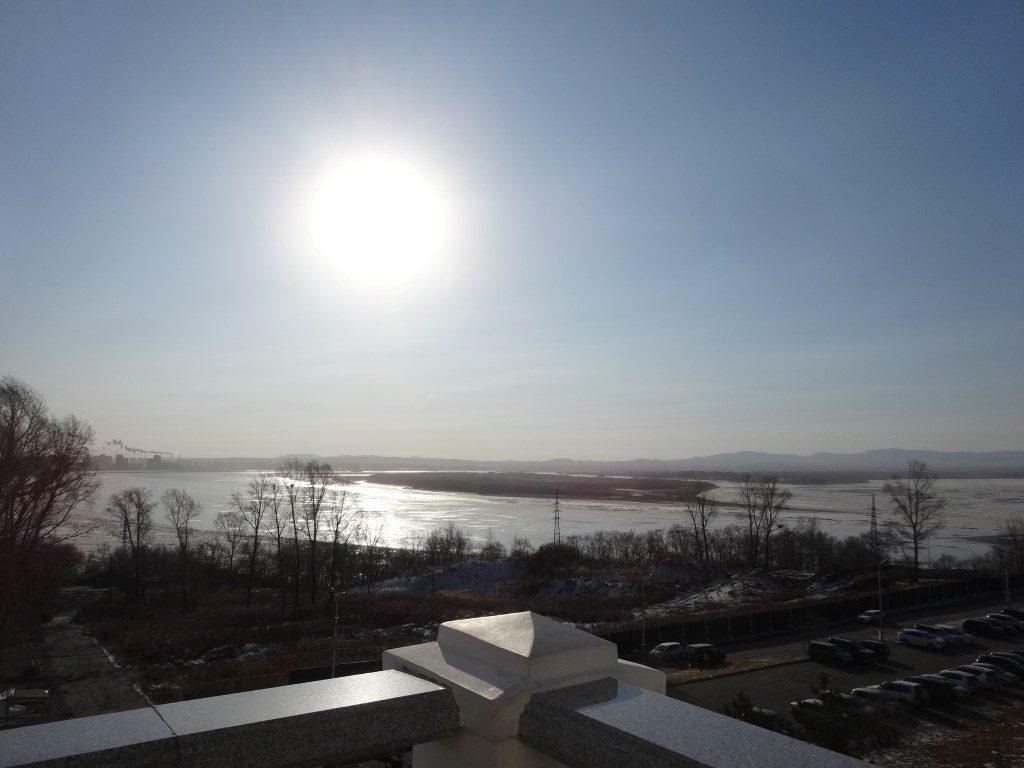 Le fleuve Amour à Khabarovsk