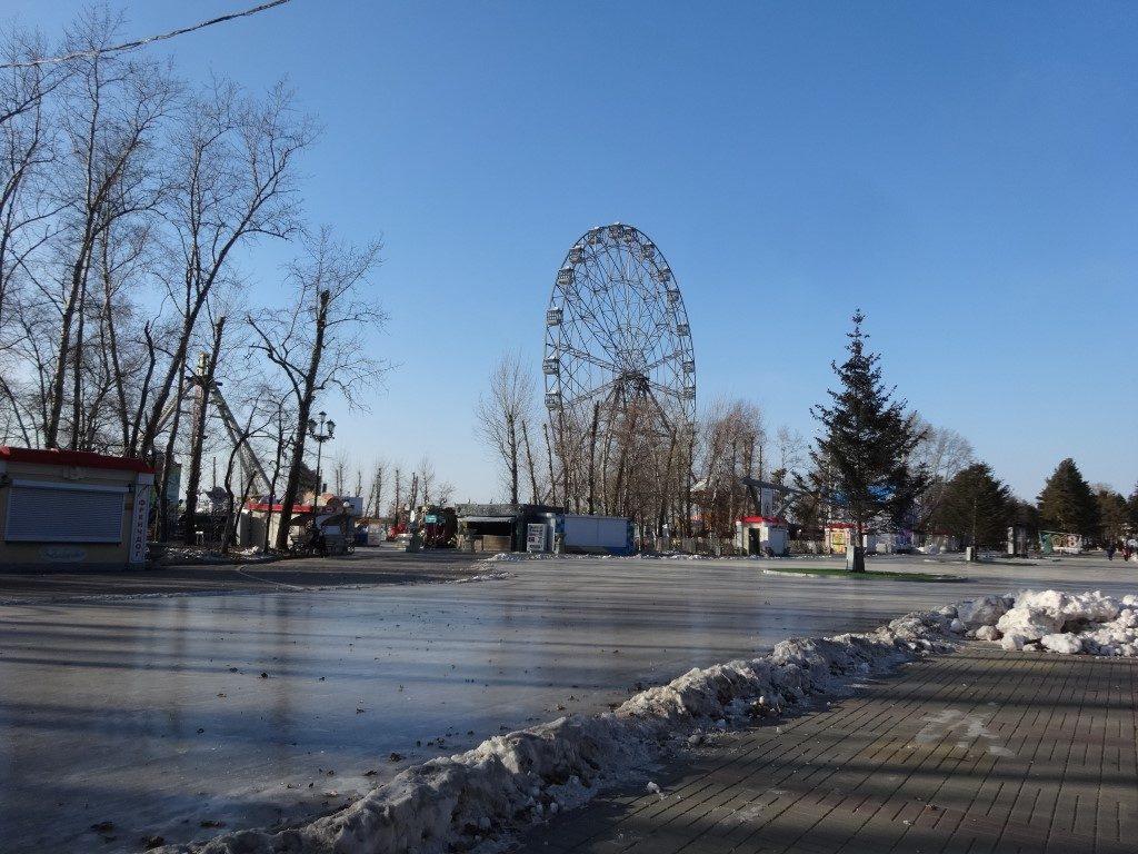 Le parc en bordure du fleuve