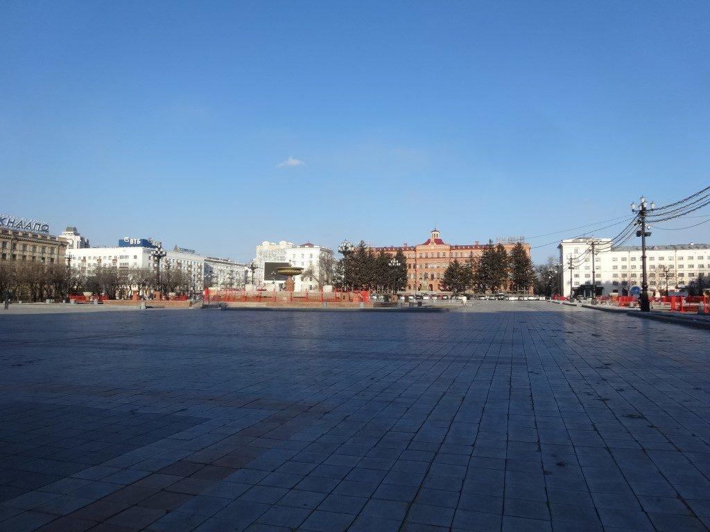 La place principale de Khabarovsk