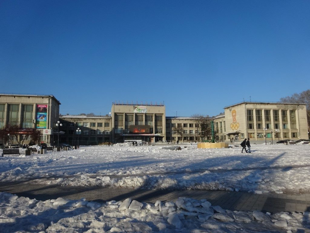 La place du théâtre de Komsomoslk